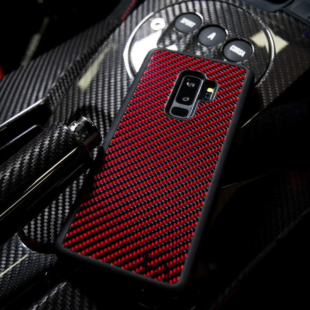 LA Carbon Fibre Genuine Carbon Fibre Case For Samsung Galaxy S9 Red