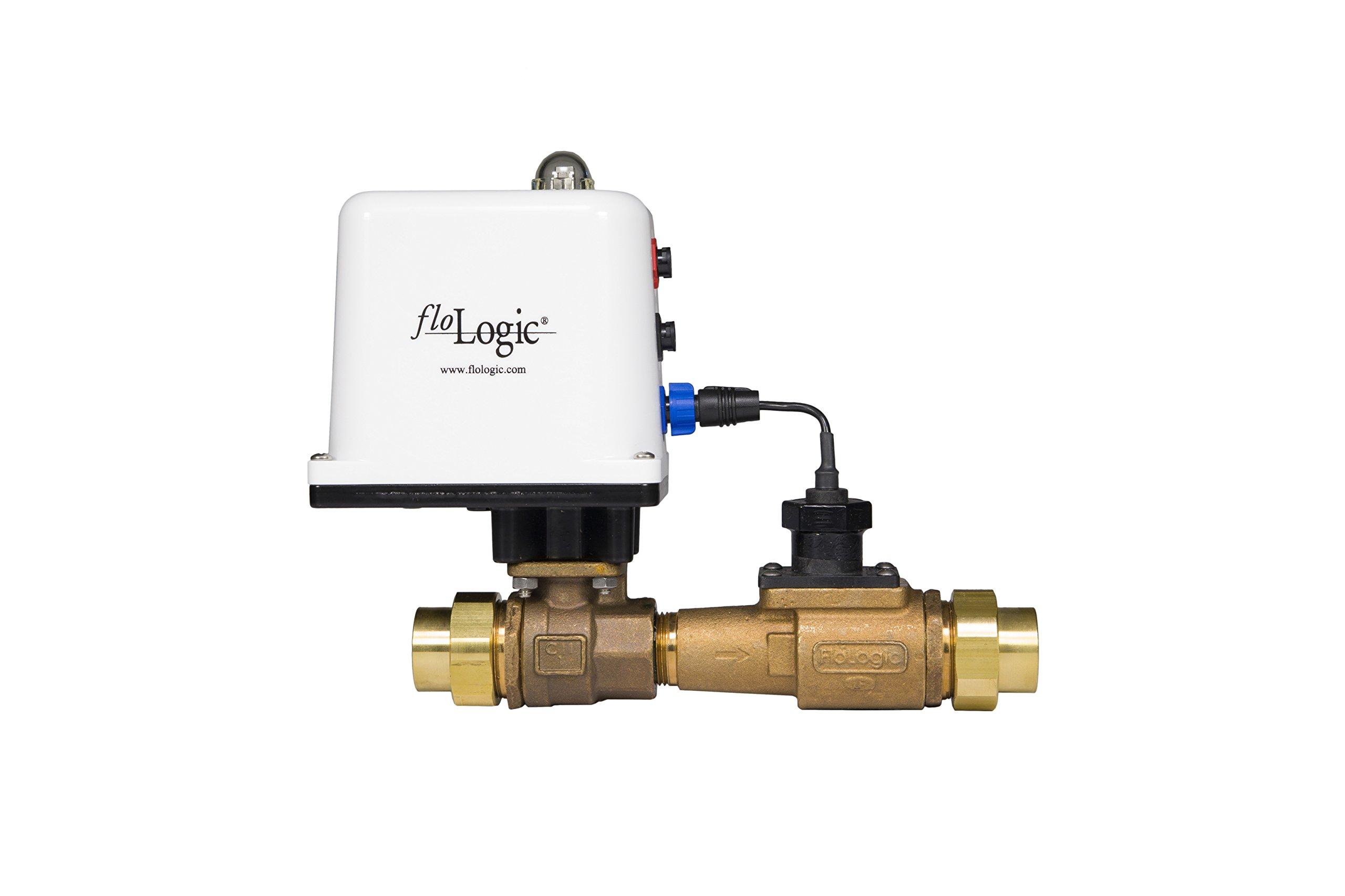 FloLogic System 3.5 1-Inch Whole Property Plumbing Leak Detector with Automatic Shutoff