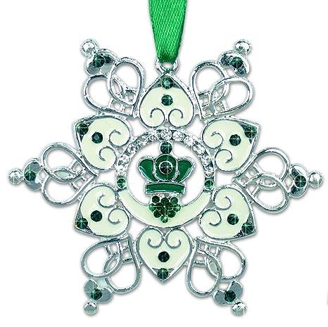 Amazon.com: Irlandés Ornamento – Claddagh Ornamento – Copo ...