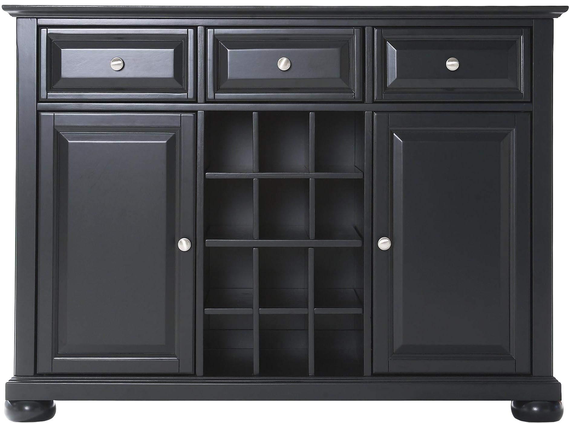 Crosley Furniture Alexandria Wine Buffet / Sideboard - Black
