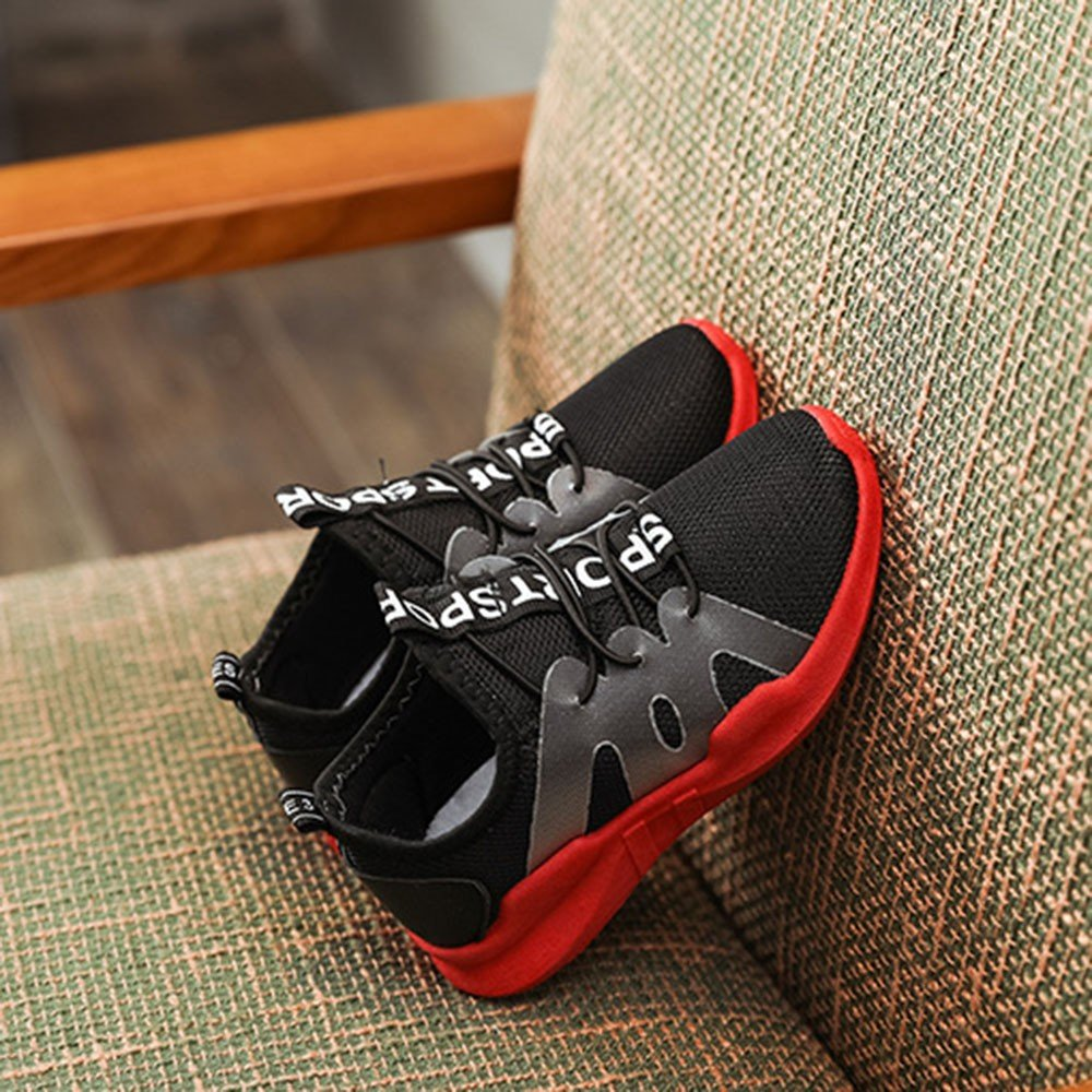 ❤️ Mealeaf ❤️ Children Kid Boys Girls Letter Sport Running Style Mesh Sneaker Casual Shoes(3.5-9.5T)