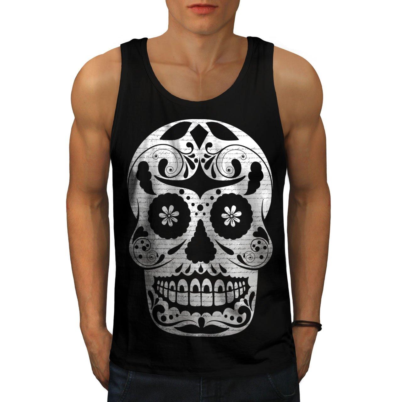 Wellcoda Amazing Aztec Skull Men Black M Tank Top