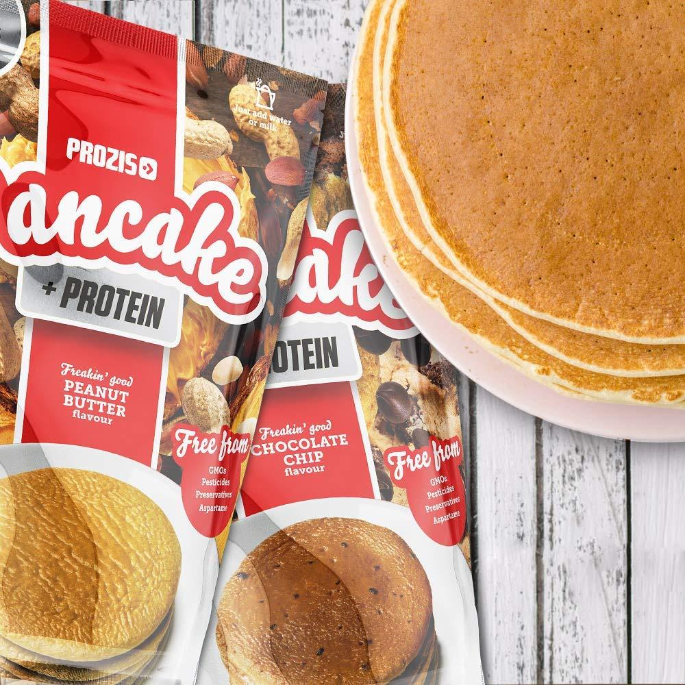 Prozis Pancake + Protein: Tortitas de avena con proteína, Tarta de queso con fresas - 900 g
