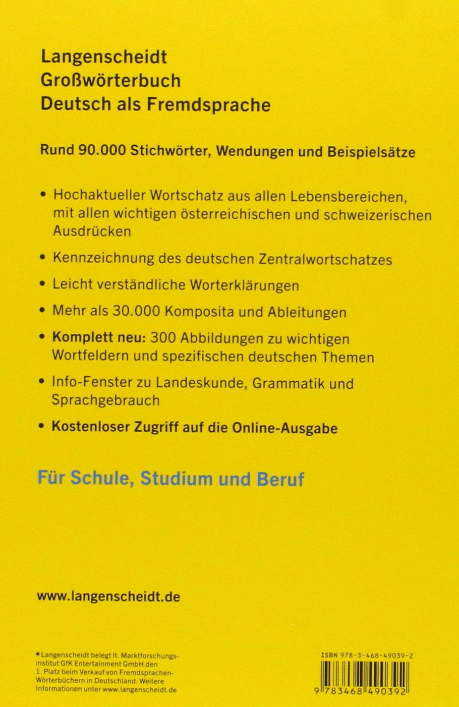 Langenscheidts grossworterbuch deutsch als fremdsprache langenscheidts gro s amazon co uk erich kastner 9783468490392 books