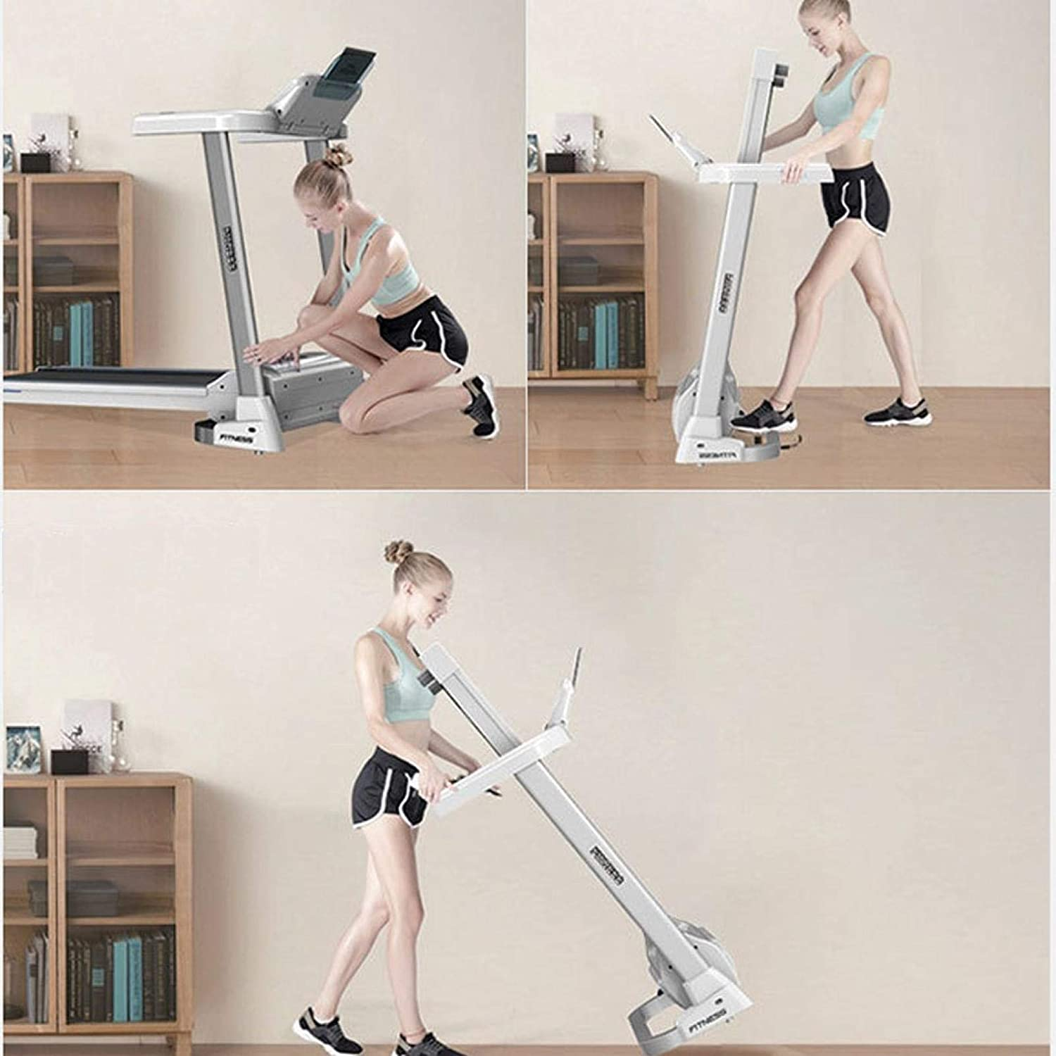 【USA in Stock 】 Treadmills for Home,2.0HP Folding Electric LCD Display Motorized Running Treadmill with Shock Absorption and Speakers Bluetoot,Running Machine for Home Gym