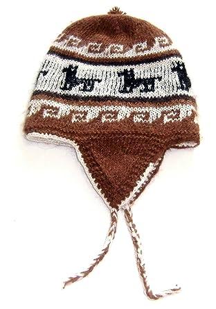 Amazon Alpakaandmore Hand Knitted Reversible Peruvian Brown