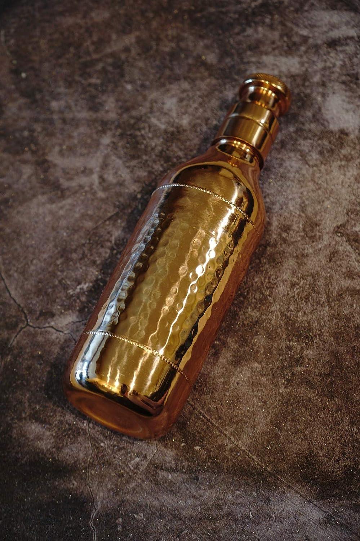 Details about  /Handmade Hammered Design Copper Champagne Bottle Health Benefit 1 Liter Set Of 2
