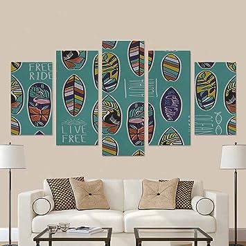 interestprint patrón con imagen tabla de surf y elegante frases en la casa de campo azul ...