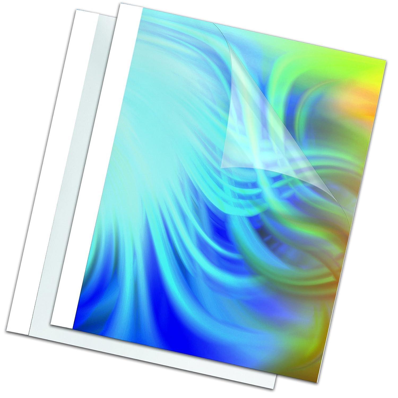 Fellowes Leonardi 5391401 Termocopertine Standard, Formato 10 mm, Confezione da 100 Pezzi, Bianco