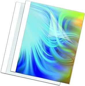 Fellowes Carpetas para encuadernación térmica estándar 1.5 mm, pack de 100, color blanco: Amazon.es: Oficina y papelería