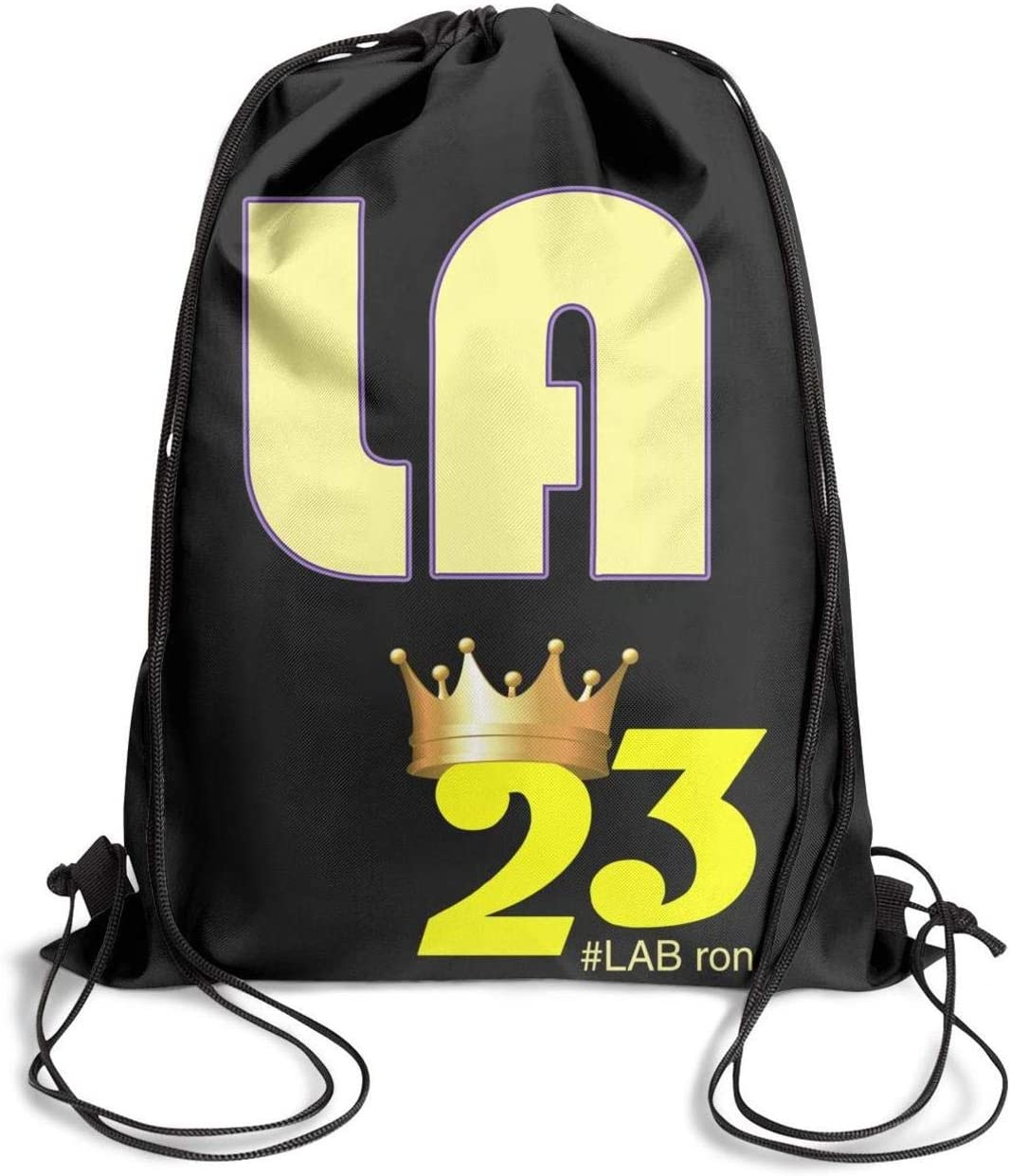 Drawstring Bags for Women /& Men GUYI3 Backpack Gym Cute California-map/_LABRON/_Crown