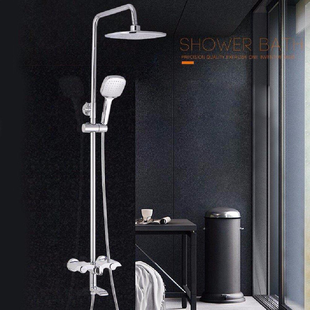 WAWZJ Bathroom Shower Set Shower Sprinkler Suit All Copper Silver Shower Shower