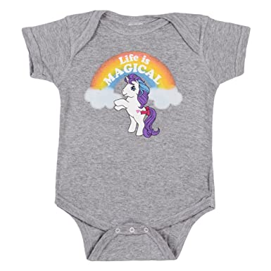 amazon com my little pony life is magical baby romper snapsuit