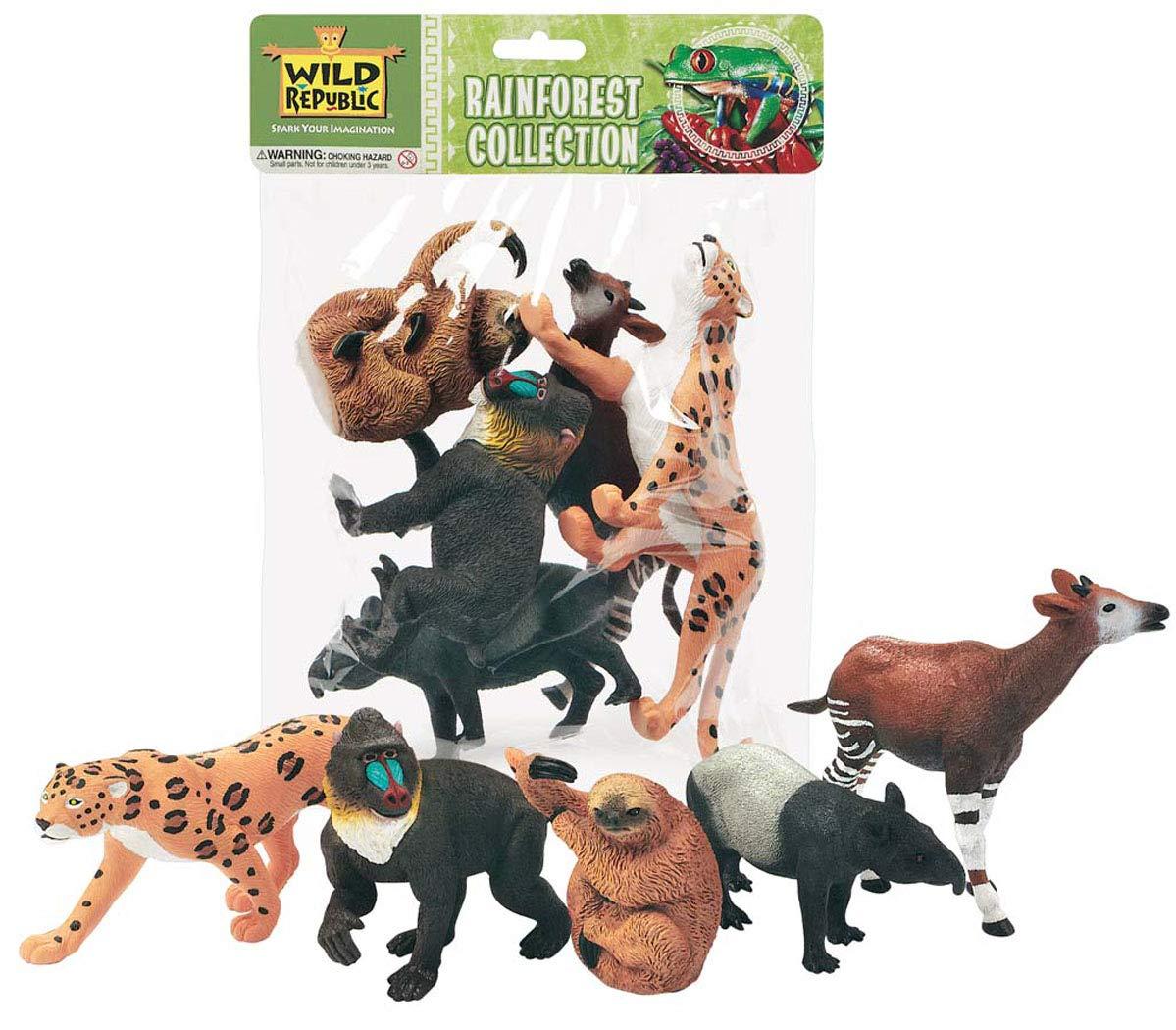 Wild Republic 53529 Tüte mit Tiersammlung, Regenwald, 5 Figuren, bunt