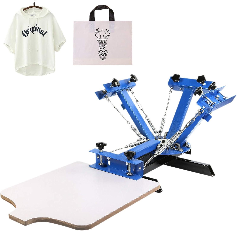 VEVOR 4 Colores Máquina de Impresión de Pantalla de Seda Máquina de Serigrafía