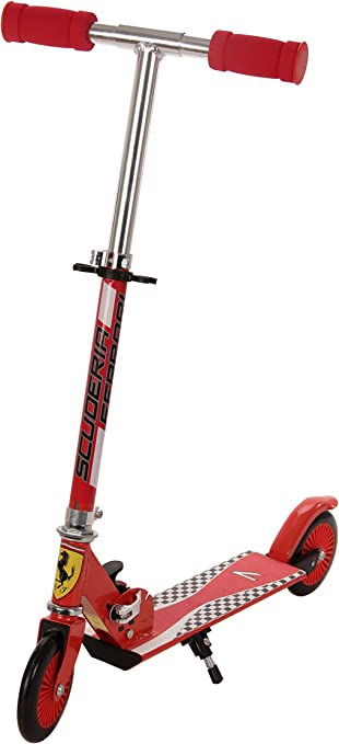 Amazon.com: Ferrari Kids 2 ruedas Scooter, Rojo: Sports ...