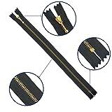 Metal Zippers - Heavy Duty Close-end Gold Zips