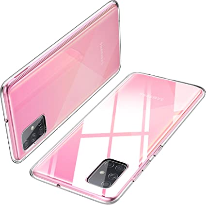 iBetter Diseño para Funda Samsung Galaxy A71 Funda, [Protección de Cuatro ángulos] TPU con Superficie Mate Silicona Fundas para Samsung Galaxy A71 Smartphone.Transparente: Amazon.es: Electrónica