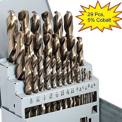 Cobalt Drill Bit Set >> Comoware Cobalt Drill Bit Set 29pcs M35 High Speed Steel Twist