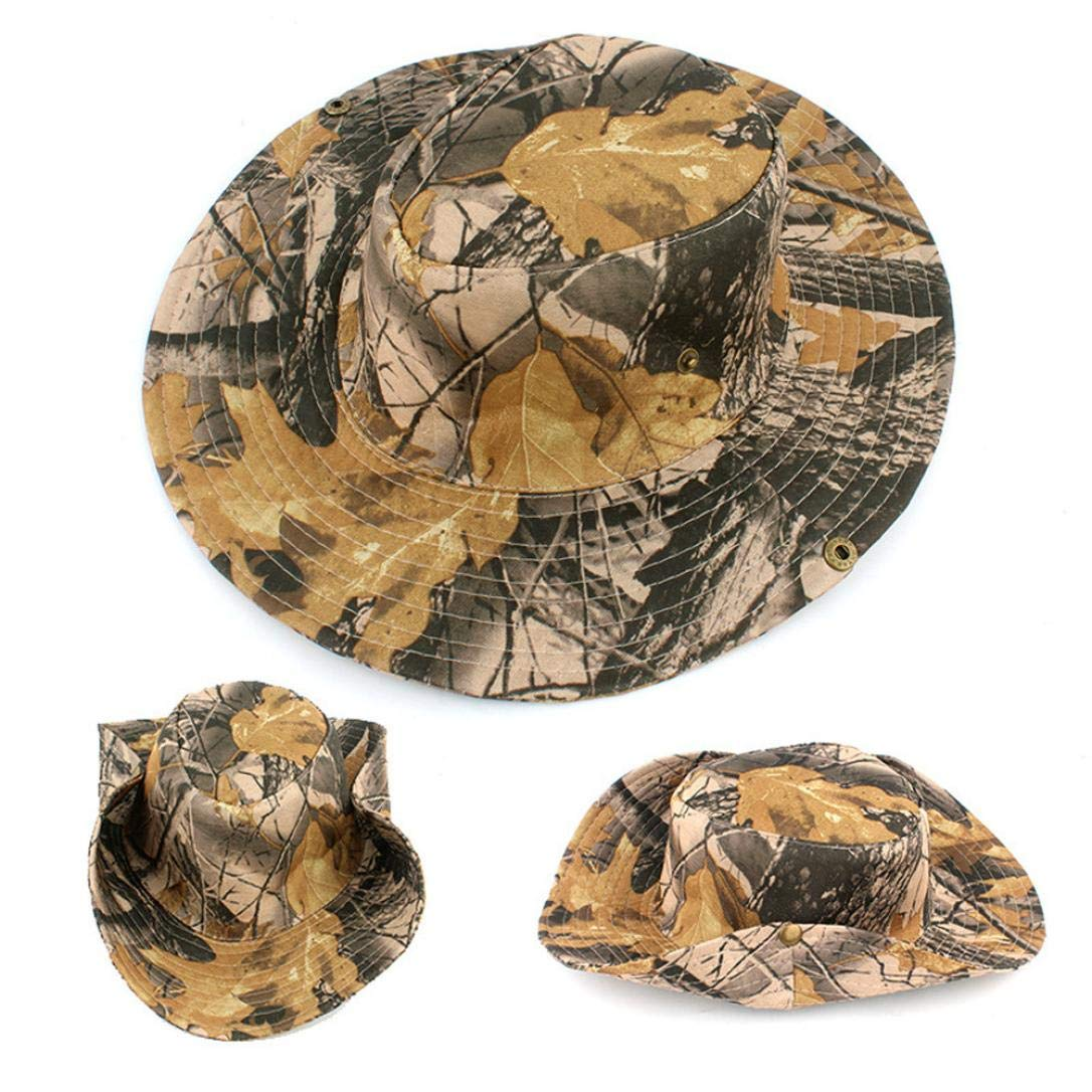 68f7febdda04d Sporting Goods Clothing Fishing Boonie Military Wide Brim Bucket Hats  Hunting Outdoor Camouflage Cap EW2