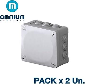 Caja estanca IP55, 175x150x80mm, con conos y tapa con tornillos (Pack 2 Unidades): Amazon.es: Bricolaje y herramientas