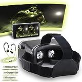 Pavoi Réalité Virtuelle Lunettes Vidéo PG300 3D VR Lunettes Google VR Casque Compatible avec 3,5-6,0 Pouces Android et Apple Smartphones pour Les 3D Films et Jeux Virtuel