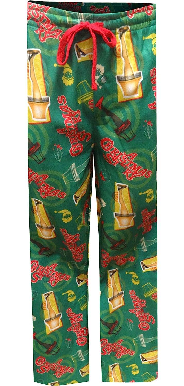 Bioworld Merchandising Mens A Christmas Story Leg Lamp Modern Flannel Lounge Pant
