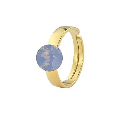 58132f543 ARLIZI ring bue opal Swarovski crystal silver gold plated 1305:  Amazon.co.uk: Jewellery