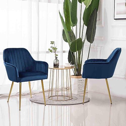 Set of 2 Velvet Dinning Chairs