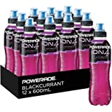 Powerade ION4 Blackcurrant Sports Drink, 12 x 600 ml