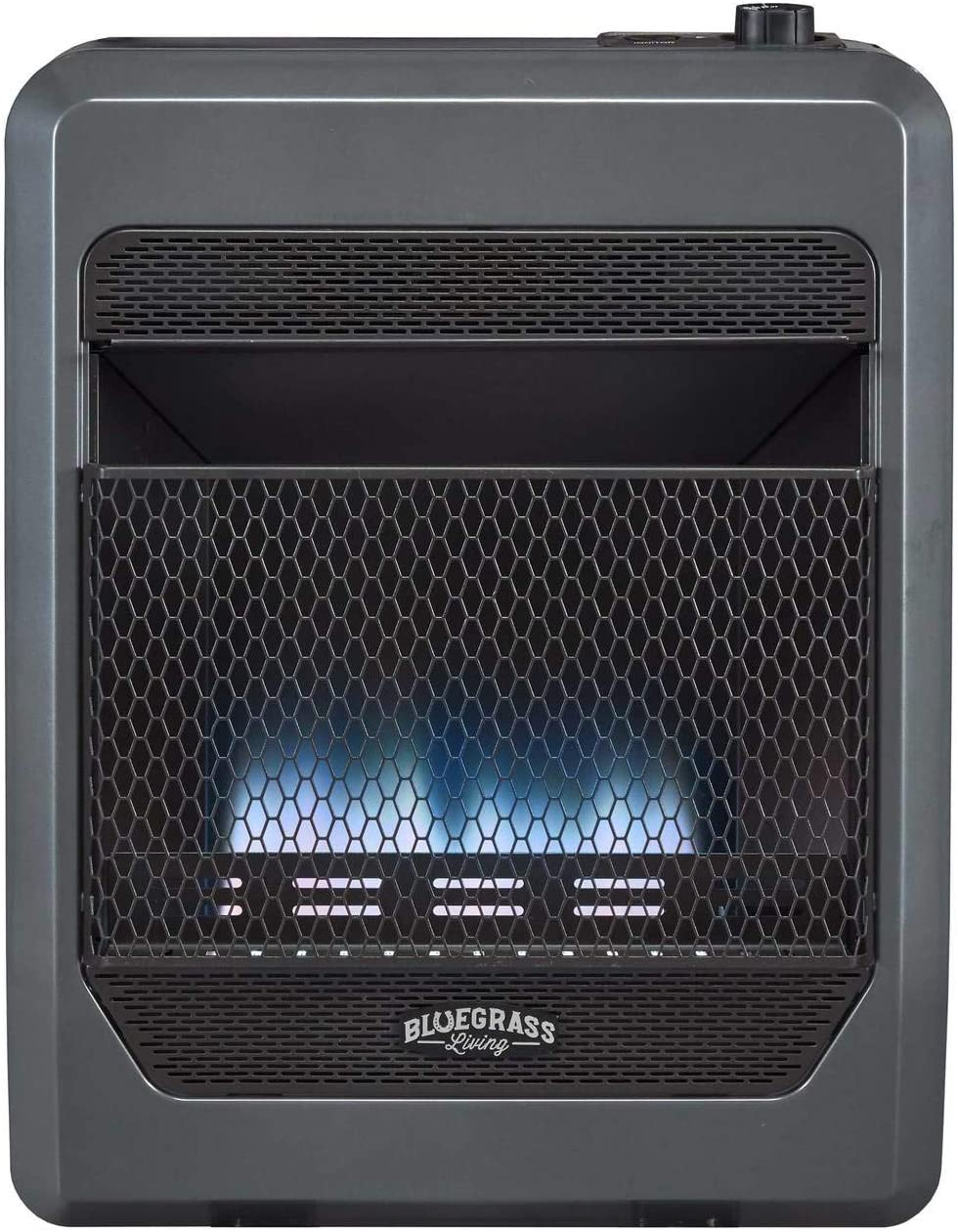 Bluegrass Living Bluegrass B20TPB-BB Vent Free Blue Flame Gas Space Heater with Blower and Base Feet-20,000, T-Stat Control, 20000 BTU, Black