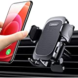 【Easy Clamp & One-Hand Operation】 Car Phone Holder Mount, One Touch Air Vent Phone Mount for Car, Suitable for 99% Car A…