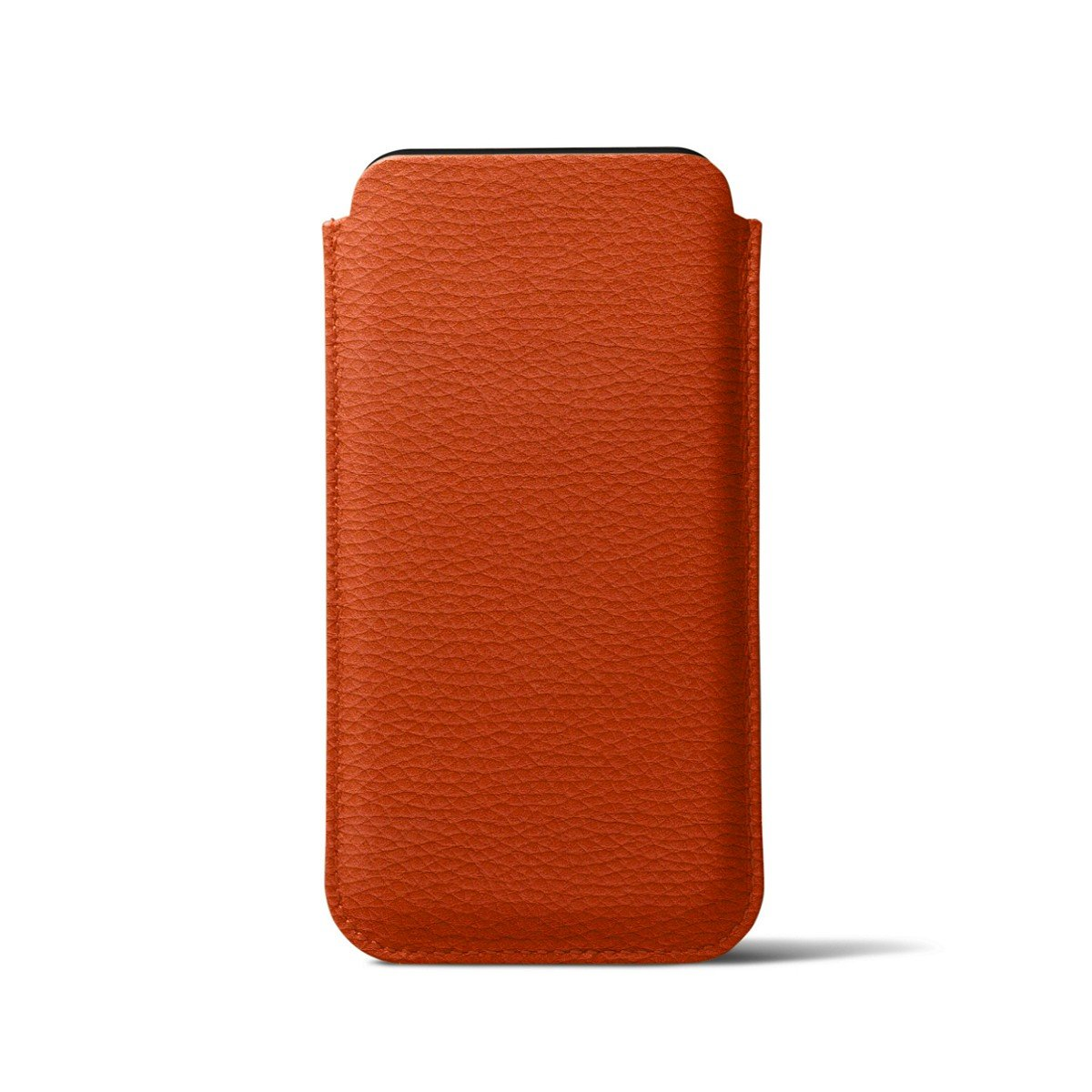 Lucrin - Classic Case for iPhone X - Orange - Granulated Leather by Lucrin (Image #6)
