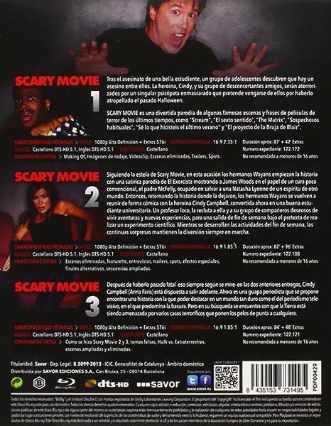 Scary Movie 1+2+3 [Blu-ray]: Amazon.es: Ana Faris, Keenen Ivory Wayans, David Zucker, Ana Faris, Phil Dornfeld, Lisa Blum: Cine y Series TV