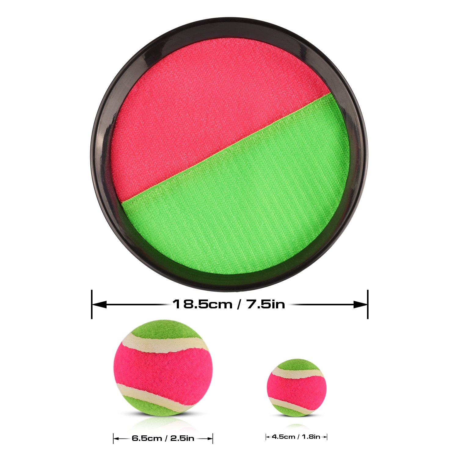 Abco Tech Paddle Toss and Catch Game Set - Self-Stick Disc Paddles and Toss Ball Sport Game - Equally Suitable Game for Kids by Abco Tech (Image #4)