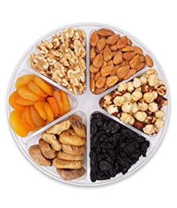 Nuts Gift Basket,Gourmet Food Healthy Fresh Gift Idea For Christmas, Mothers,Thanksgiving, Fathers Day, And Birthday(6Cell)