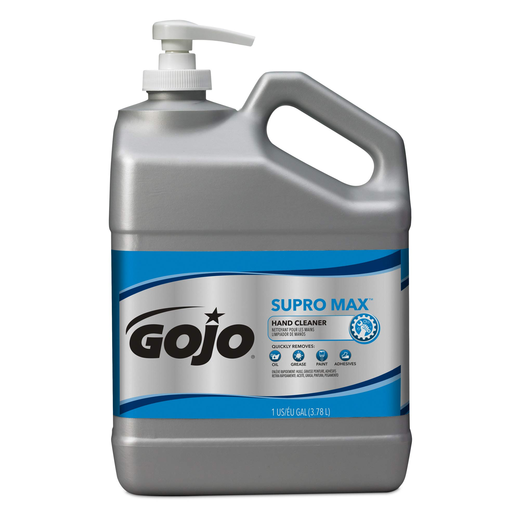 GOJO SUPRO MAX Hand Cleaner, 1 Gallon Heavy-Duty Hand Cleaner with Scrubbers Pump Bottles (Pack of 2) – 0979-02 by Gojo (Image #2)