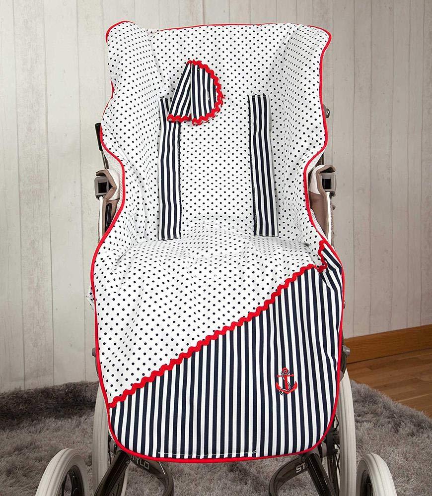 Babyline Marinero Colchoneta para silla de paseo color azul//rojo