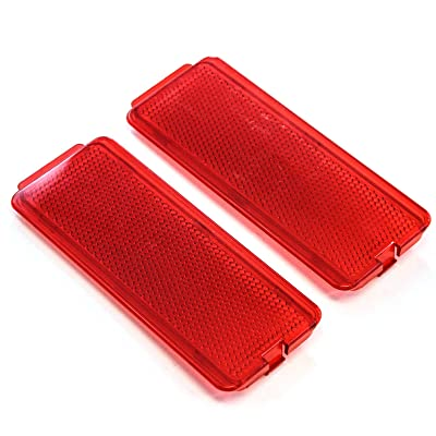2 Premium Door Reflectors Interior Red Compatible with Ford (1999-2007 SuperDuty F250 F350 F450 F550 Super Duty & 2000-2005 Excursion): Automotive