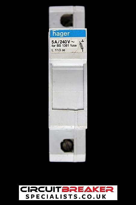 Excellent Hager 5 Amp Cartridge Fuse Carrier Holder L113 010138 Bs 1361 240V Wiring Digital Resources Skatpmognl
