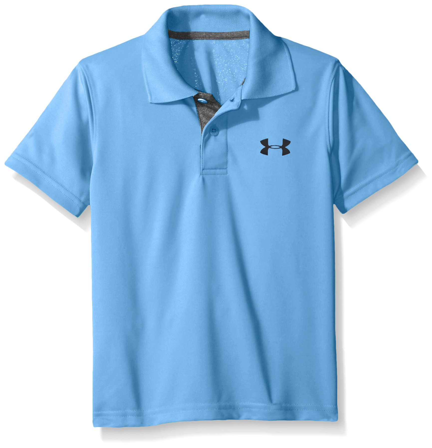 Under Armour Boys' Little Ua Logo Short Sleeve Polo, Water, 6 by Under Armour