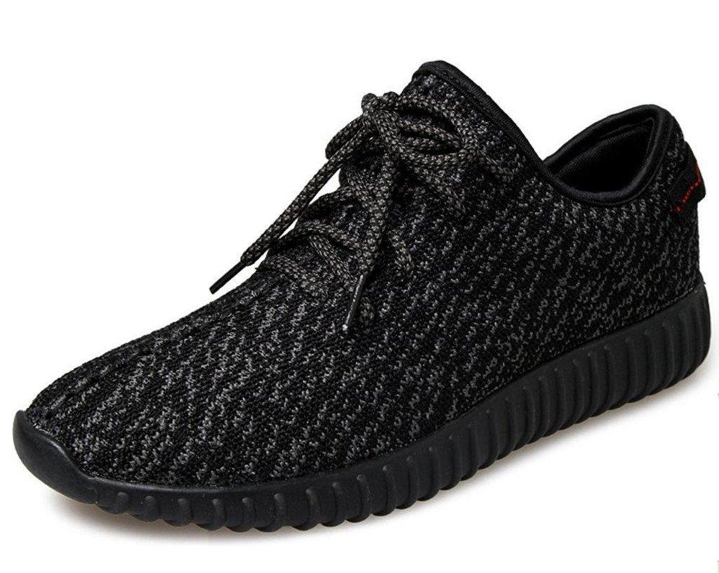 Men Women Casual Breathable Mesh Sneakers Light Weight Athletic Walking Running Shoes B0716HT3PP 39 M EU / 7 B(M) US Black1