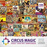 JOONEM CIRCUS MAGIC: 1000 Pieces Jigsaw Puzzle Of Retro Magical Circus Posters Ads