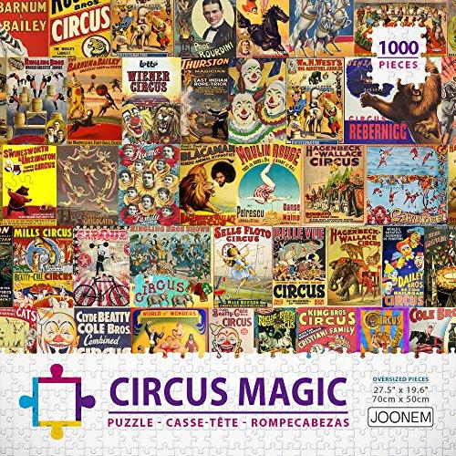 JOONEM CIRCUS MAGIC: 1000 Pieces Jigsaw Puzzle Of Retro Magical Circus Posters Ads