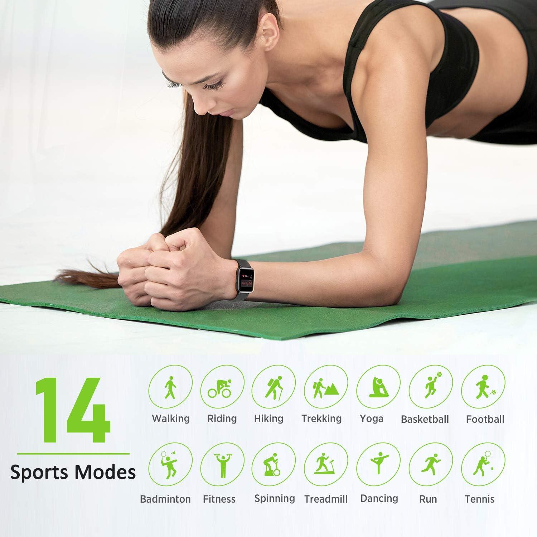 Letsfit Fitness Tracker HR, monitor de actividad con pantalla de ...