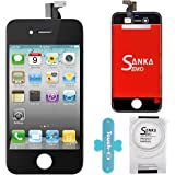 SANKA Ecran LCD Vitre Tactile de Rechange Display Complet Avec Outils de Réparation pour Apple iPhone 4G- Noir