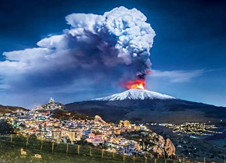 2ddd7c8a Amazon.com: Etna Italy, Travel Jigsaw Puzzle, Collection, 1000 ...