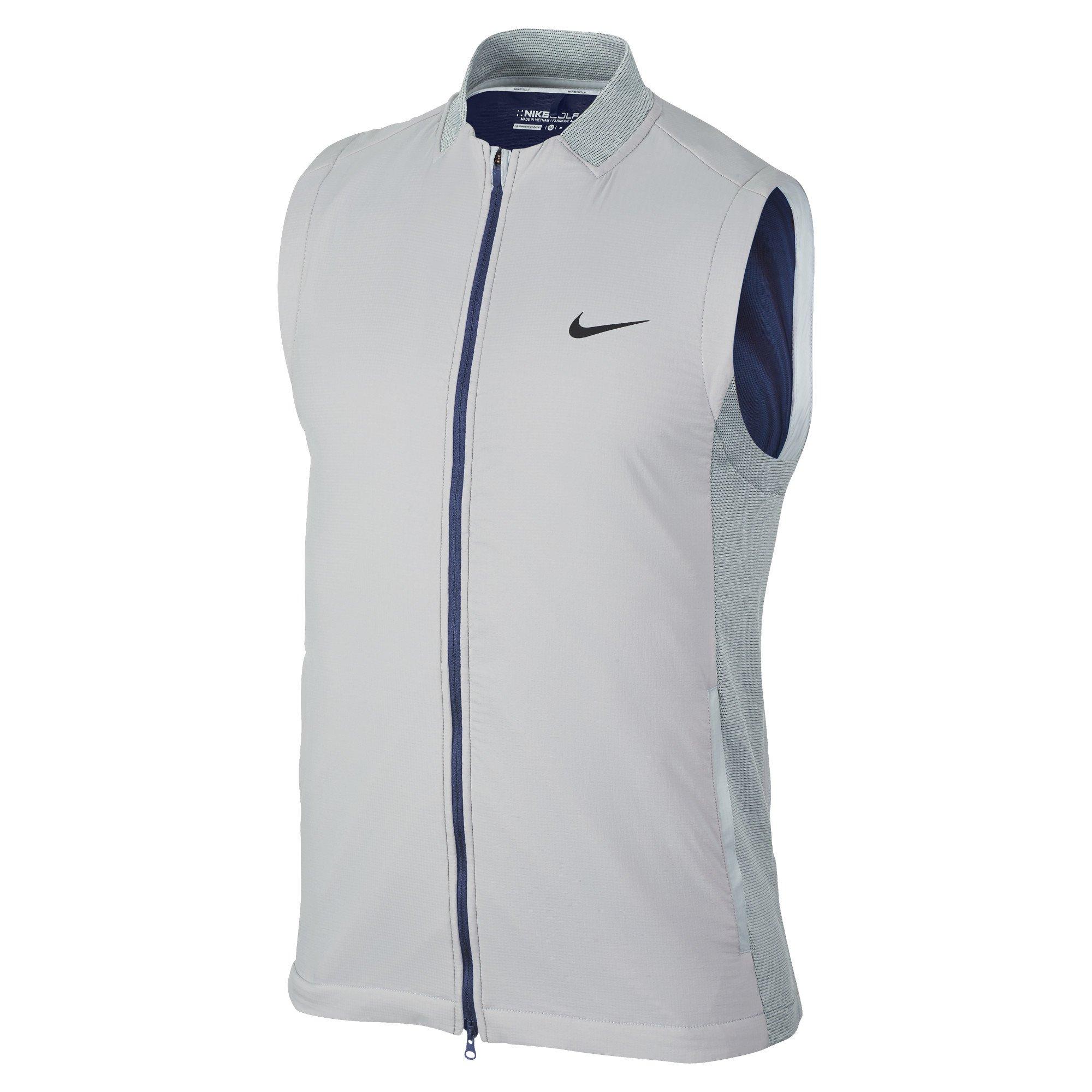Nike Aerolayer Men's Golf Vest, Wolf Grey/Black (Small)