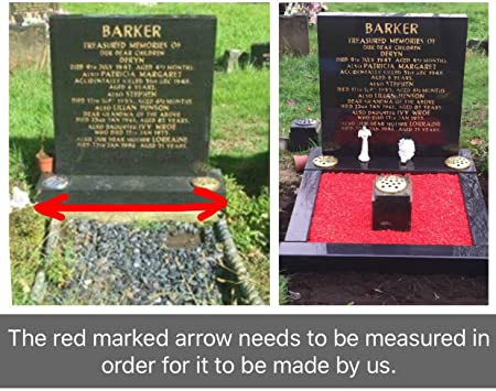 Personalised Memorial Headstone Plinth Grave Tribute Cemetery