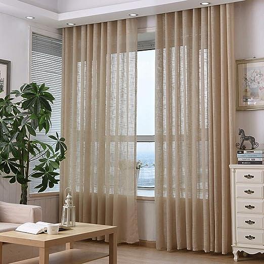 Cortina Cortinas de lino de algodón, cortinas, pantallas, hilado ...
